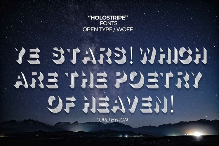 Holostripe Font | Open Type & Woff example image 1