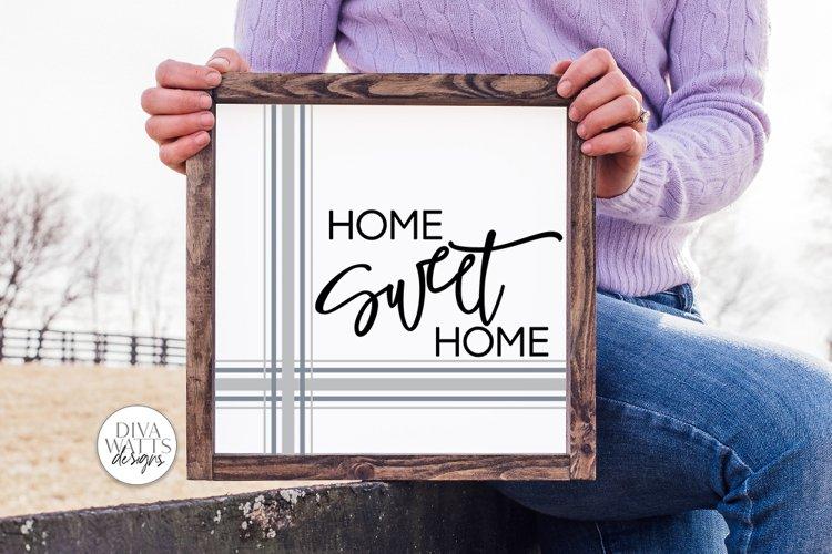 Home Sweet Home SVG | Farmhouse Plaid Design example image 1