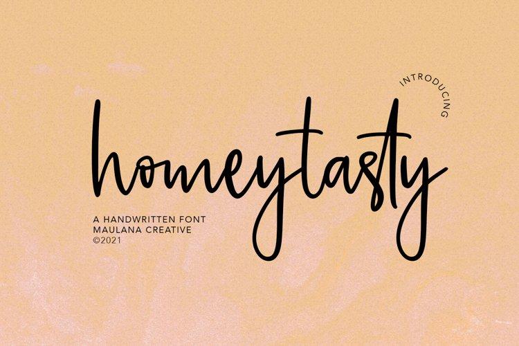 Homeytasty Handwritten Script Font example image 1