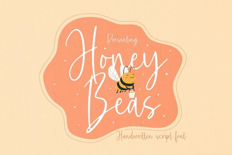 Web Font Honey Beas Font example image 1