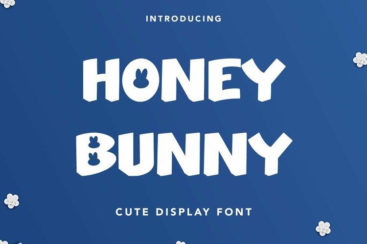 Web Font Honey Bunny - Cute Display Font example image 1