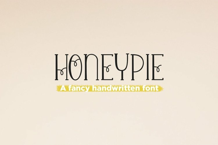 Web Font Honey Pie - a quirky handwritten font example image 1