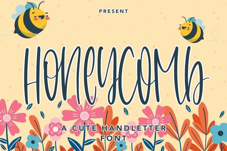 Web Font Honeycomb - A Cute Handletter Font example image 1