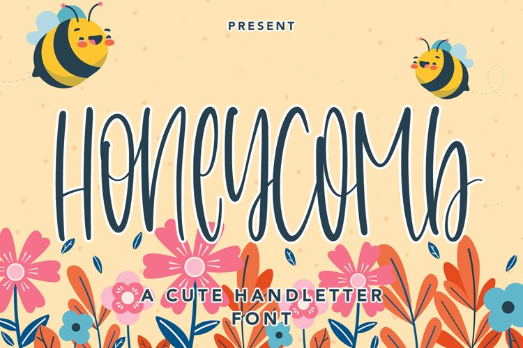 Honeycomb - A Cute Handletter Font example image 1