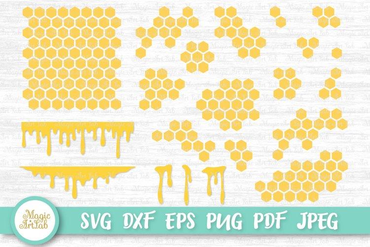 Honeycomb svg, Honey drip svg, Honey svg, Beehive svg file