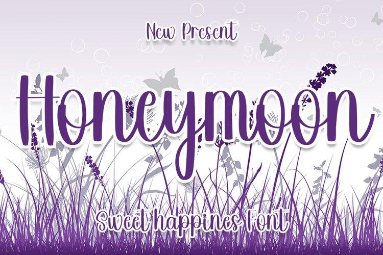 Honeymoon - Sweet Happines Font example image 1