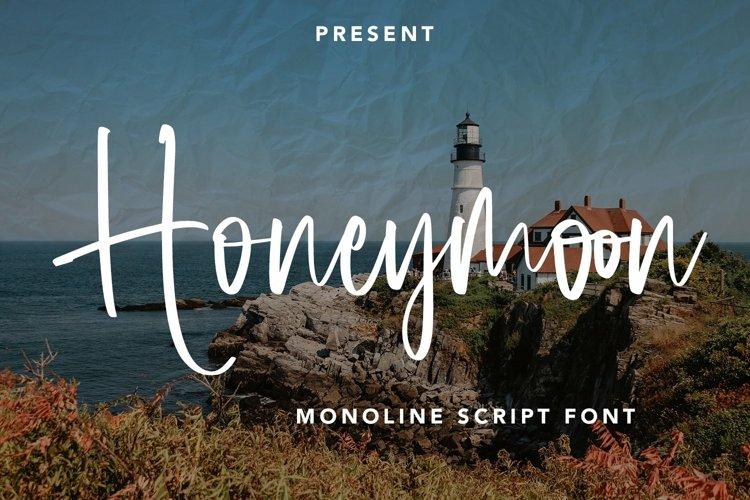 Web Font Honeymoon - Monoline Script Font example image 1