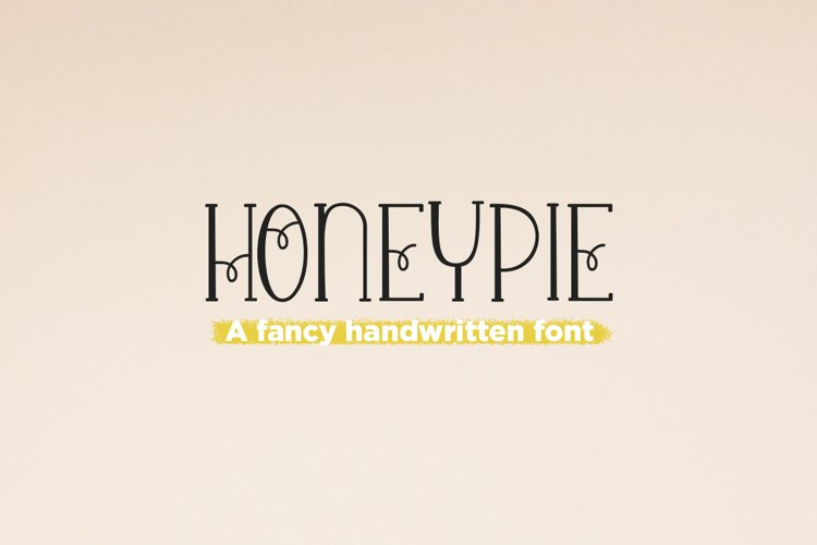 Honey Pie - a quirky handwritten font example image 1