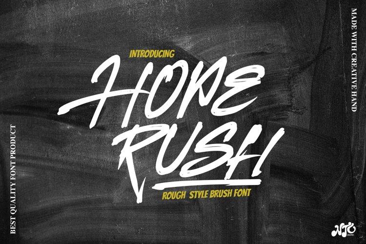 HOPERUSH - Brush Font example image 1