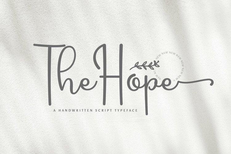 Web Font Hope example image 1