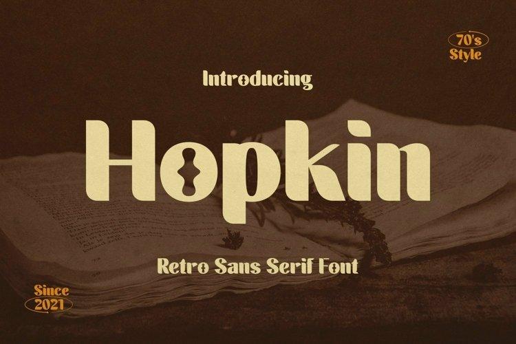 Web Font Hopkin Font