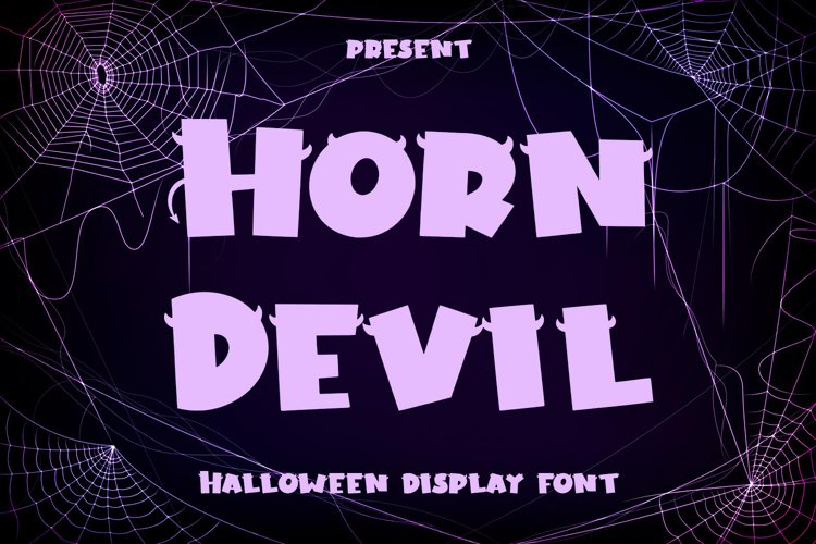 Horn Devil - Halloween Display Font example image 1