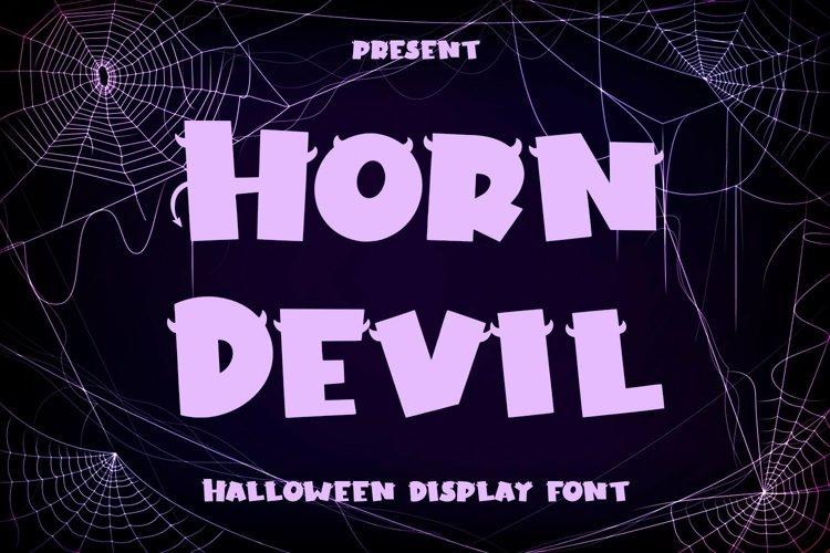 Web Font Horn Devil - Halloween Display Font example image 1