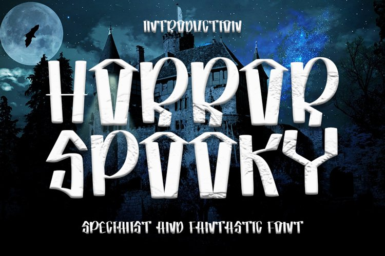 Horror Spooky - New Horror Font example image 1