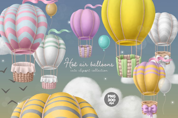 Hot air balloons clipart
