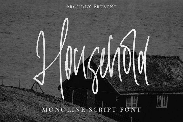 Household - Monoline Font example image 1
