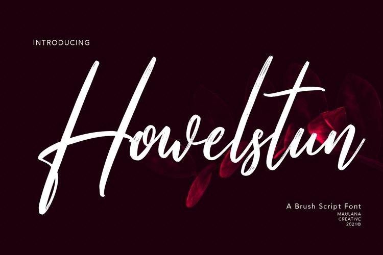 Howelstun Brush Script Font example image 1