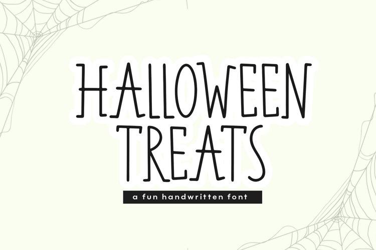Halloween Treats - A Fun Handwritten Font example image 1