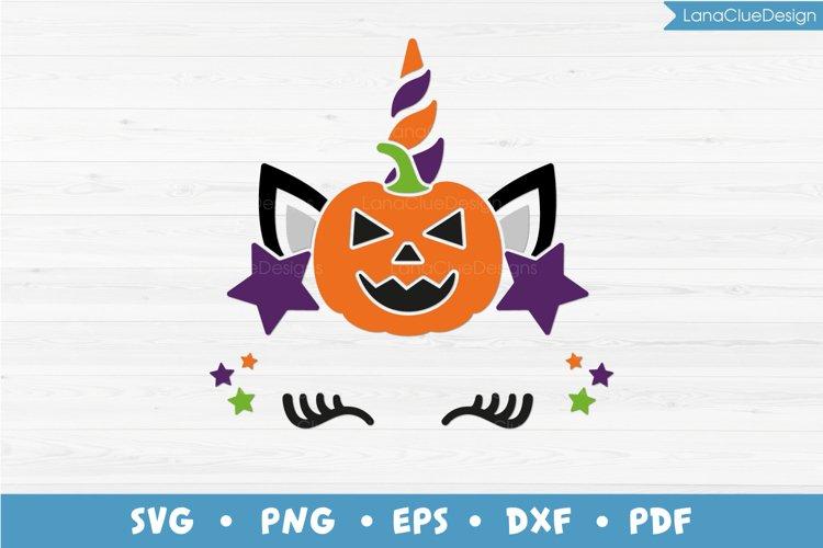 Halloween Unicorn Face SVG, Unicorn Head, Halloween Design