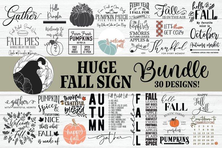 Fall bundle, Huge Fall Sign Bundle, SVG Bundle example image 1