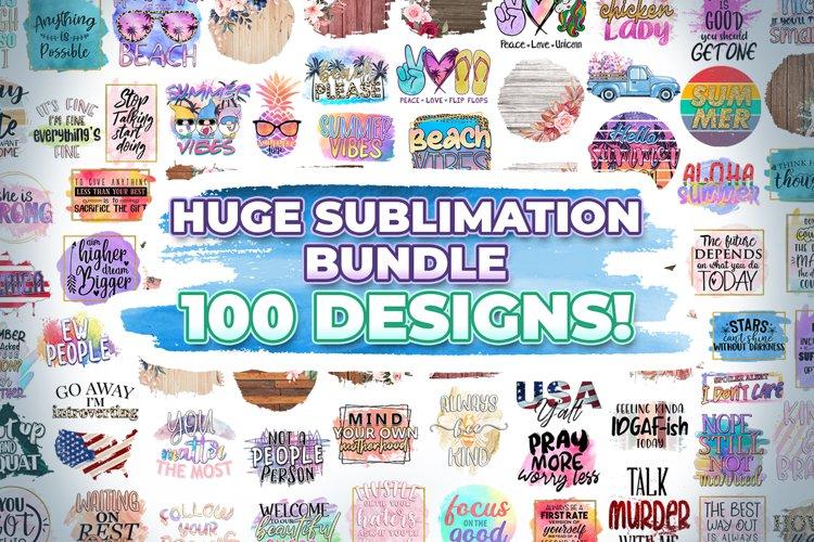 Huge Sublimation Bundle - 100 Sublimation PNG Designs