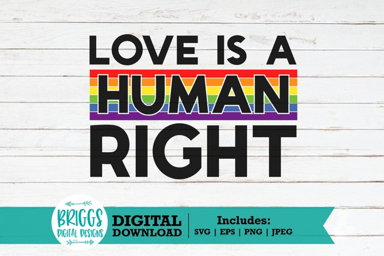 Gay Pride LGBTQ SVG  Love is a Human right, Rainbow Flag SVG
