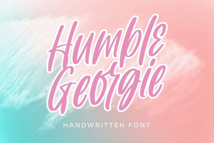 Web Font Humble Georgie - Handwritten Font example image 1