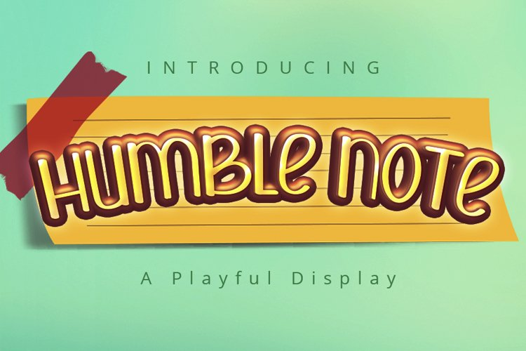 Humble Note   A Display Typeface example image 1