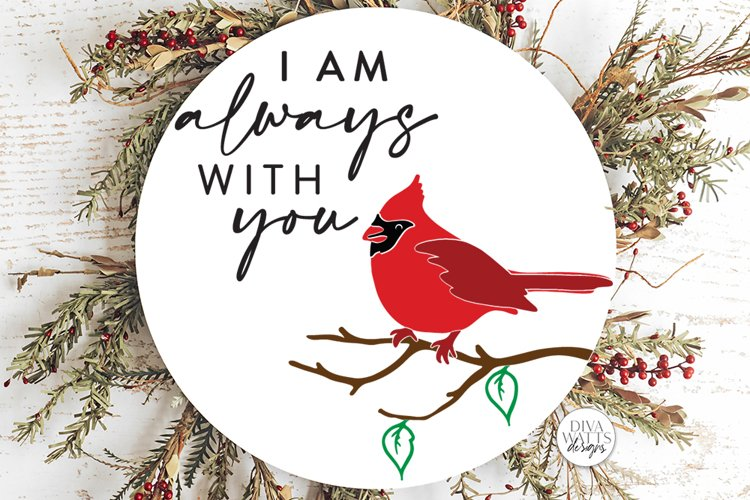 I am always with you SVG | Red Cardinal Memorial Design example image 1