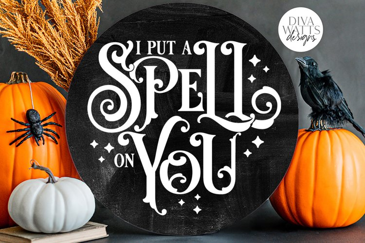 I Put A Spell On You SVG | Halloween Witch Word Art Design example image 1