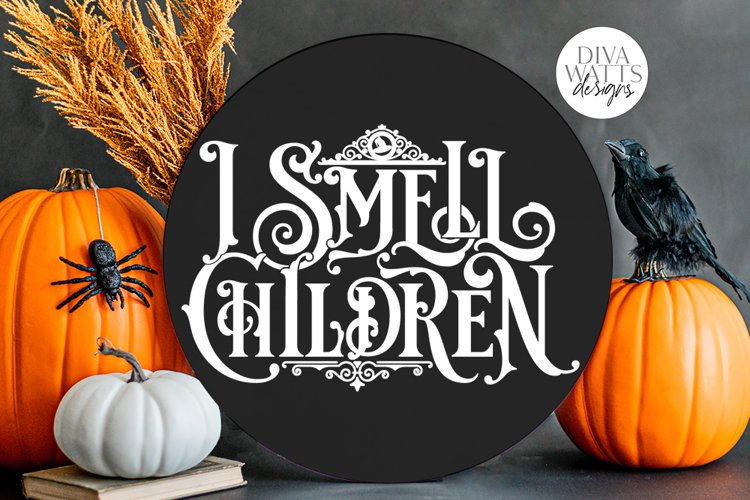 I Smell Children Gothic SVG | Halloween Witch Word Art example image 1