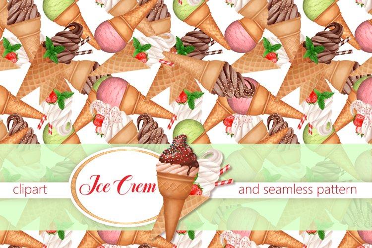 Ice Cream set with pattern