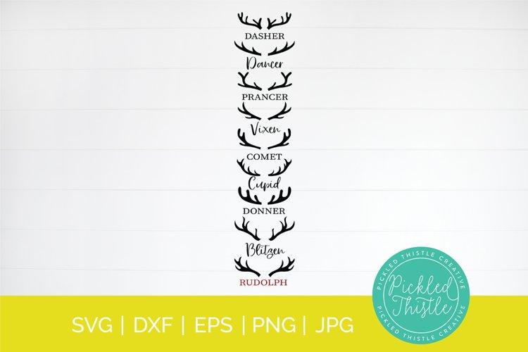 Vertical Christmas Front Porch Sign SVG- Reindeer SVG example image 1