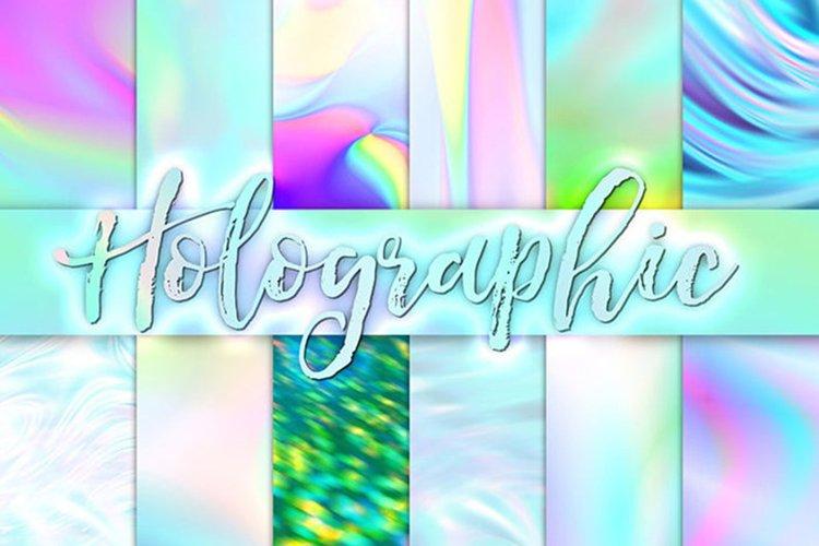 Holographic Digital Paper - Iridescent Textures