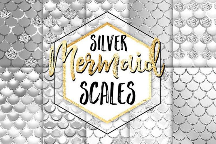 Mermaid Digital Paper - Silver Mermaid Scales