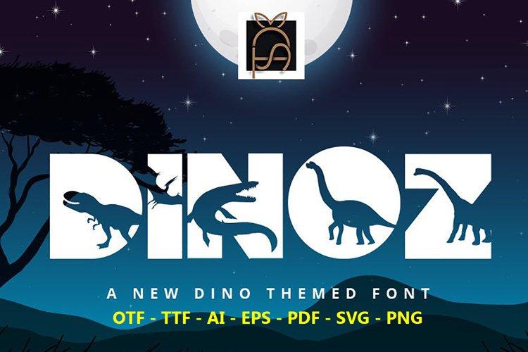 Dinoz Fonts - Dinosaur Font - T-rex Font - Dino Font-Cricut