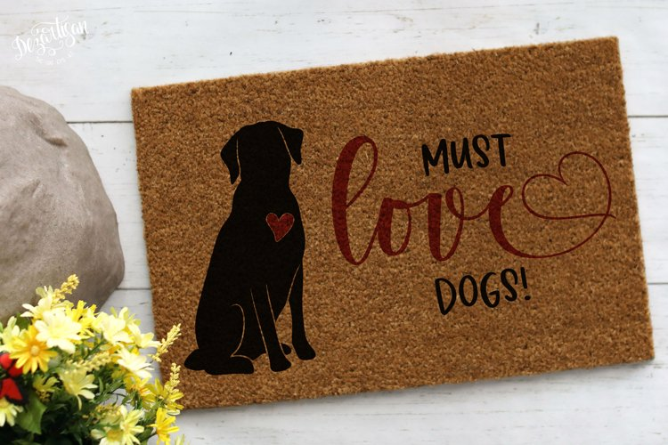 Must Love Dogs SVG | DXF example image 1