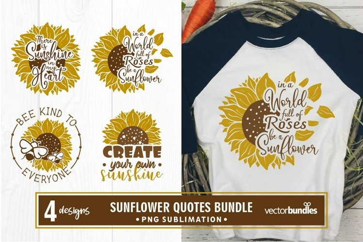 Sublimation sunflower quotes bundle example image 1