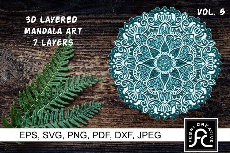 3D Layered Mandala Art 5 - SVG
