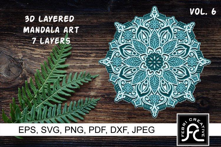 3D Layered Mandala Art 6 - SVG