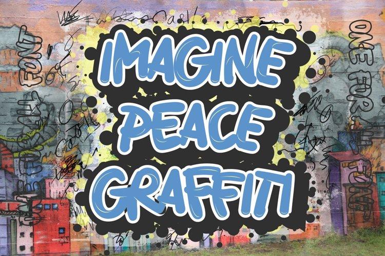 Imagine Peace Graffiti example image 1
