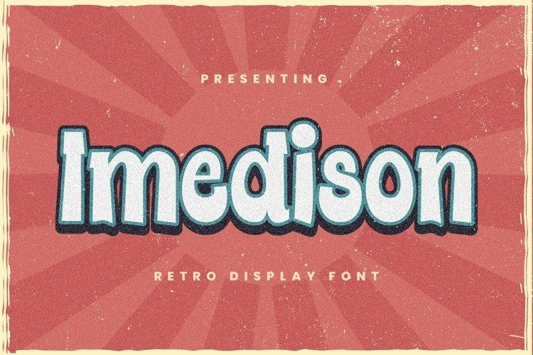 Web Font Imedison - Display Font example image 1