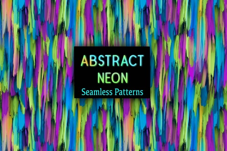 12 Neon Abstract Seamless Patterns Textures Background Color example image 1