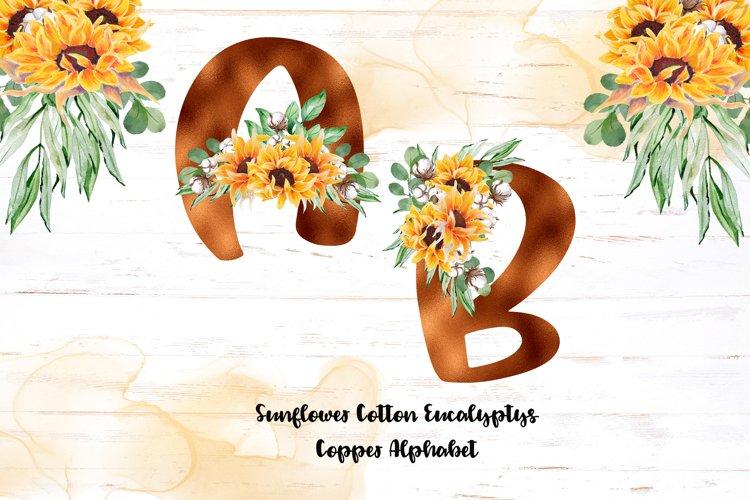 Copper alphabet - Sunflower Eucalyptus