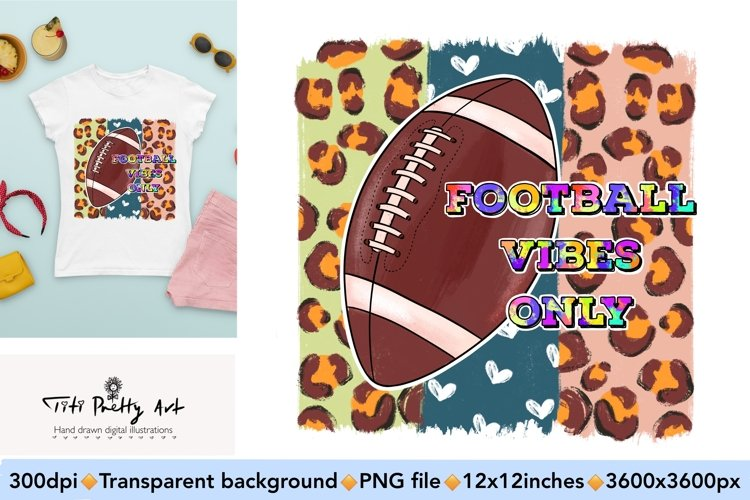 Football Vibes Only Bundle PNG