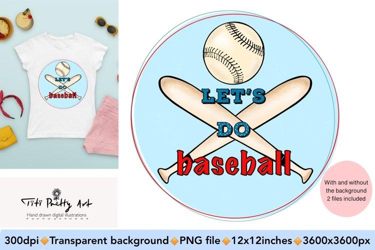 Lets Do Baseball Bundle PNG