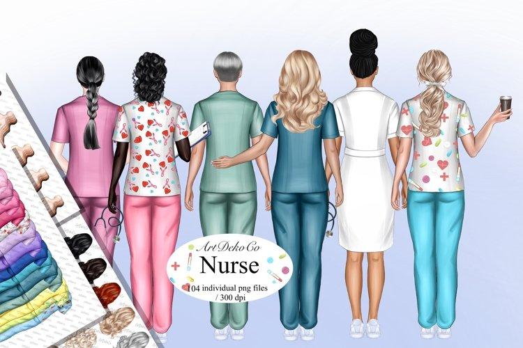 Nurse Clip Art, Custom Nurse Portrait, Doctor Clip Art