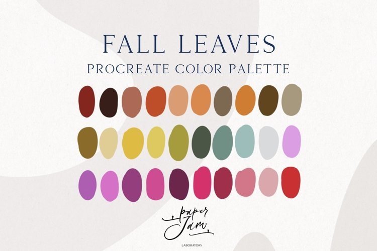 Procreate Color Palette - Fall leaves - Color Swatches