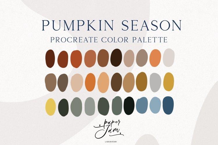 Procreate Color Palette - Pumpkin season - Color Swatches
