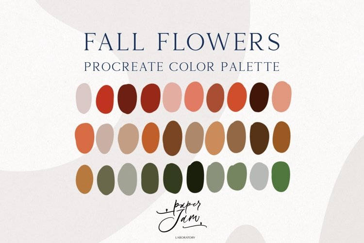 Procreate Color Palette - Fall flowers - Color Swatches